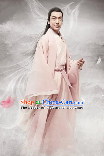 Traditional Chinese Ancient Men Childe Costumes, Ancient Chinese Cosplay Teleplay Ten great III of peach blossom Role General Swordsmen Roayl Prince Embroidered Costume Complete Set for Men