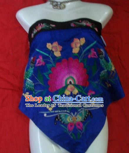 Traditional Chinese Miao Nationality Dancing Costume, Hmong Female Folk Dance Ethnic Chest Wrap, Chinese Minority Nationality Handmade Embroidery Bellyband for Women
