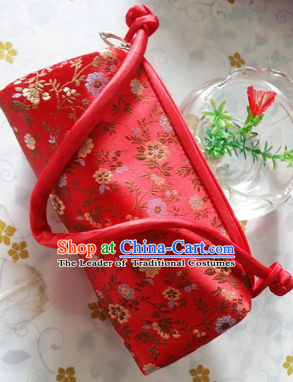 Purse Women Handbag Chinese Traditional Style Rectangle Min Guo Lady Stage Play Property