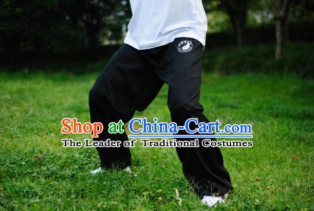 Traditional Chinese Top Kung Fu Trousers Martial Arts Kung Fu Training Tai Chi Taiji Pants for Men