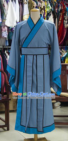 Traditional Ancient Chinese Scholar Costume, Asian Chinese Ming Dynasty Booksir Long Robe Clothing for Men