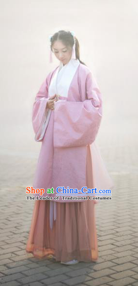 Traditional Chinese Ancient Ming Dynasty Palace Lady Long Cape and Skirts Costume Complete Set for Women
