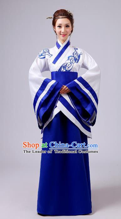 Traditional Chinese Han Dynasty Palace Lady Costume, Asian China Ancient Princess Clothing for Women