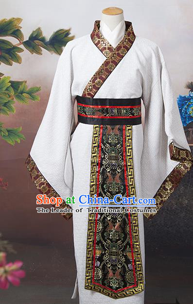 Traditional Ancient Chinese Chancellor Costume, Asian Chinese Tang Dynasty Minister Clothing for Men