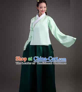 Asian China Ancient Ming Dynasty Young Lady Costume, Traditional Chinese Imperial Empress Embroidered Clothing for Women