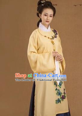 Traditional Ancient Chinese Imperial Concubine Costume, Chinese Ming Dynasty Young Lady Embroidered Clothing for Women