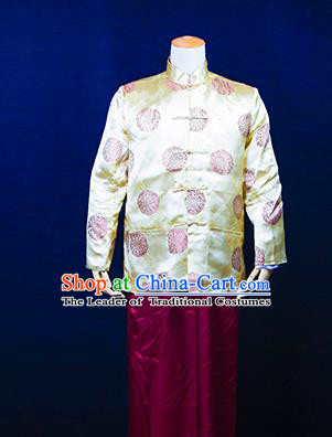 Traditional Ancient Chinese Manchu Prince Costume, Asian Chinese Republic of China Qing Dynasty Clothing for Men