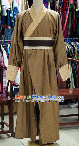 Traditional Ancient Chinese Swordsman Costume, Chinese Song Dynasty Knight Clothing for Men