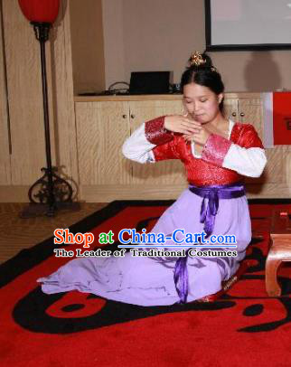 Traditional Chinese Ancient Palace Lady Costume Complete Set, Asian China Song Dynasty Princess Clothing for Women