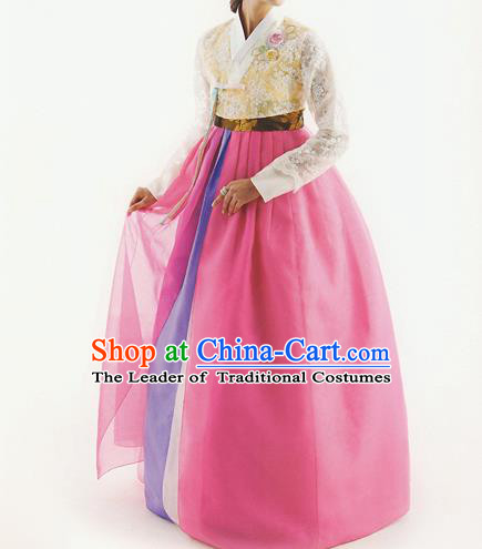 Korean Traditional Costumes Korean Clothes Wedding Full Dress, BrideFormal Attire Ceremonial Clothes, Korea Court Stage Dance Clothing for Women
