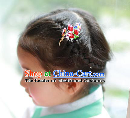 Traditional Korean Hair Accessories Girls Hairpins, Asian Korean Fashion Headwear Hair Stick for Kids