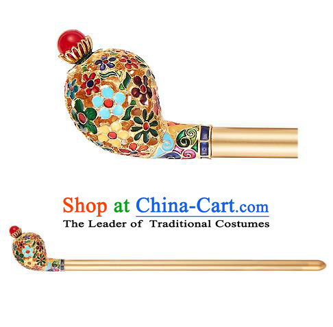 Traditional Korean National Wedding Hair Accessories Bride Palace Golden Hairpins, Korean Hanbok Fashion Hair Stick Headwear for Women