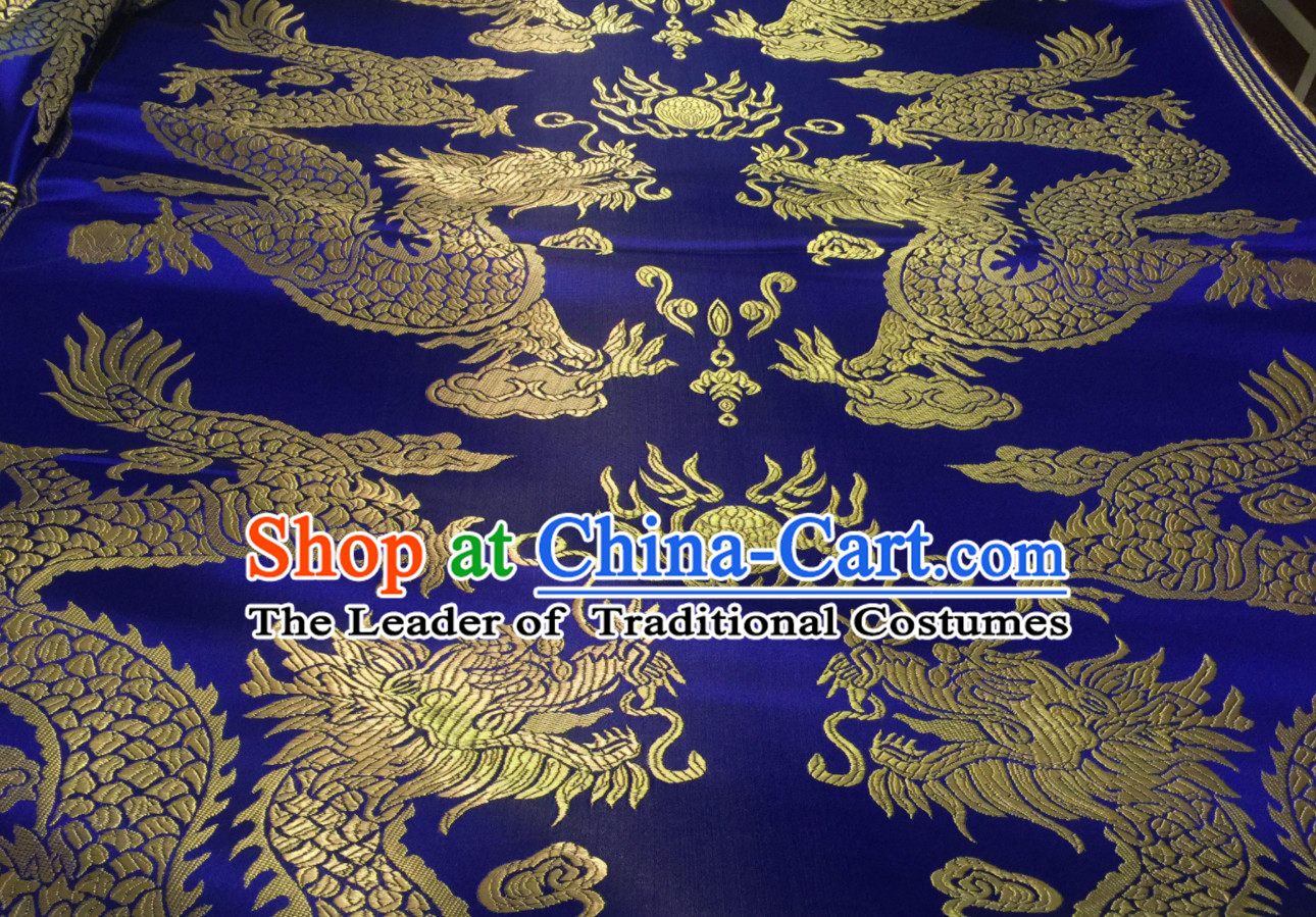 Asian Chinese Royal Palace Style Traditional Dragon Pattern Design Brocade Fabric Silk Fabric Chinese Fabric Asian Material