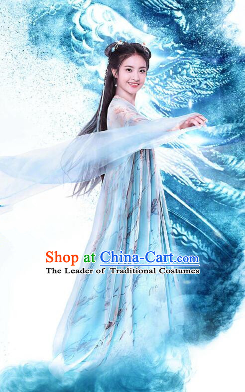 Traditional Chinese Southern and Northern Dynasties Princess Clothing, Asian China Ancient Palace Lady Costume for Women