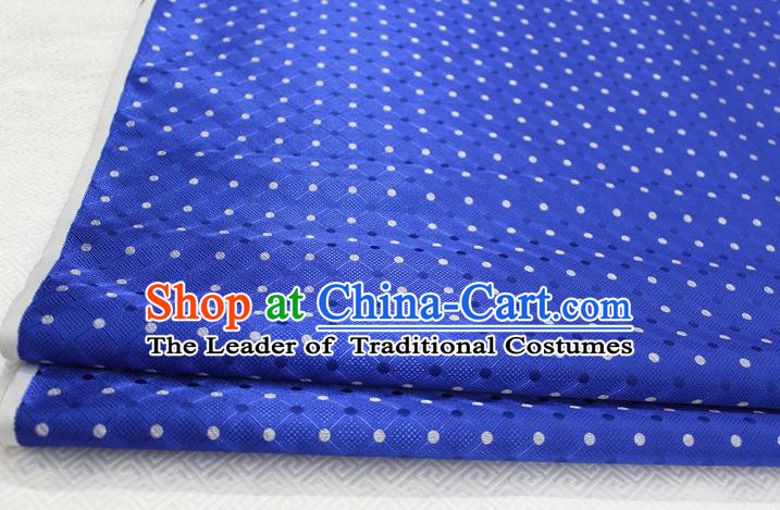 Chinese Traditional Ancient Costume Palace Pattern Mongolian Robe Cheongsam Royalblue Brocade Tang Suit Fabric Hanfu Material