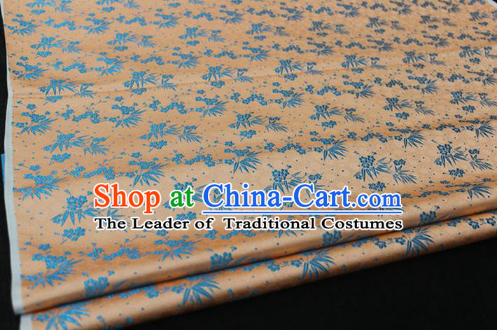 Chinese Traditional Ancient Costume Palace Bamboo Pattern Cheongsam Brocade Xiuhe Suit Satin Fabric Hanfu Material