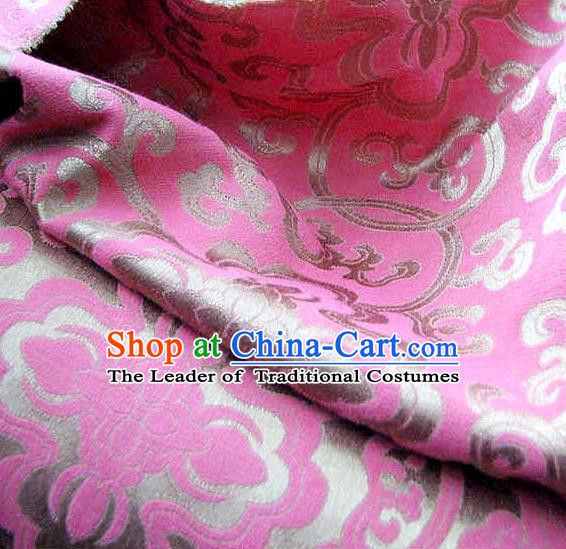 Chinese Traditional Royal Palace Pattern Design Hanfu Lilac Brocade Fabric Ancient Costume Tang Suit Cheongsam Material