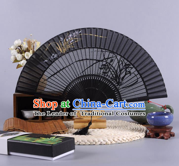 Traditional Chinese Crafts Folding Fan China Feather Fan Oriental Fan Zhuge Liang Fans