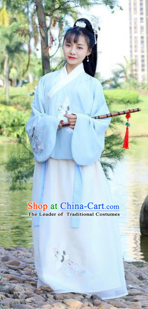 Traditional Chinese Ancient Ming Dynasty Princess Hanfu Embroidered Costume for Women