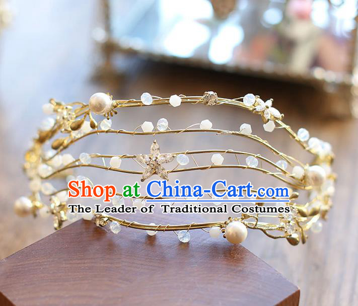 Chinese Traditional Bride Hair Jewelry Accessories Wedding Baroque Retro Hair Clasp for Women