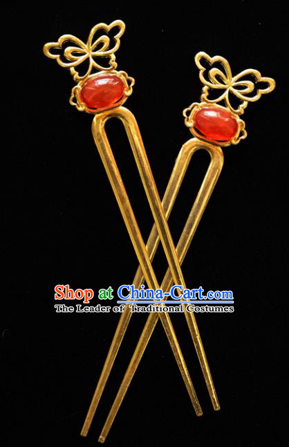 Chinese Traditional Bride Hair Accessories Xiuhe Suit Wedding Hairpins for Women