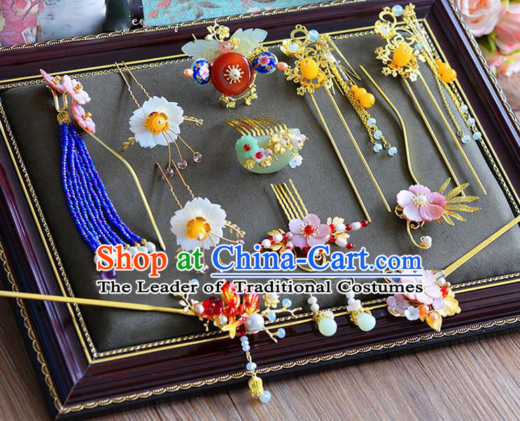Chinese Hair Jewelry Accessories Xiuhe Suit Hairpins Headwear Headdress Hair Crown for Women