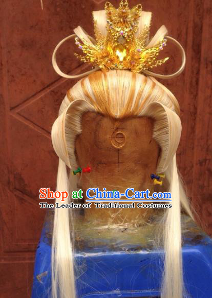 Chinese Traditional Ancient Royal Prince Hair Accessories Handmade Tuinga Hairdo Crown for Men