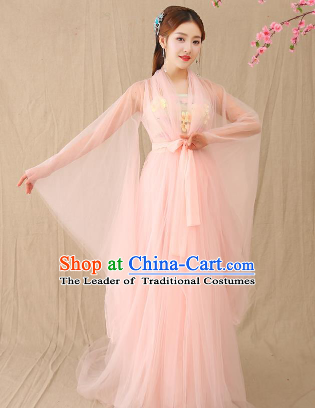 Traditional Chinese Tang Dynasty Palace Lady Hanfu Costume, China Ancient Princess Fairy Embroidered Clothing for Women
