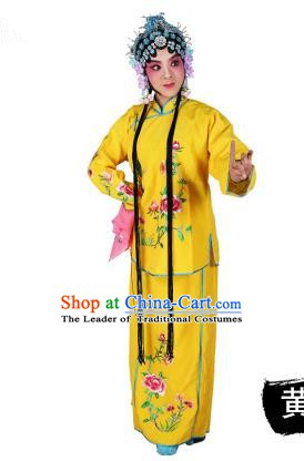 Chinese Beijing Opera Actress Embroidered Peony Costume, Traditional China Peking Opera Diva Embroidery Red Clothing