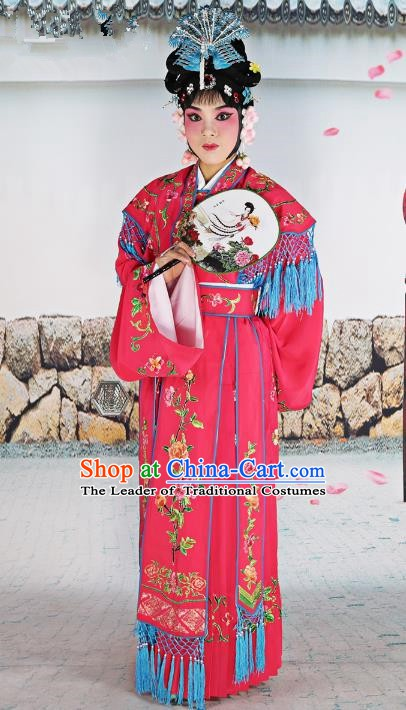Chinese Beijing Opera Actress Costume Embroidered Cape, China Peking Opera Diva Nobility Lady Embroidery Clothing