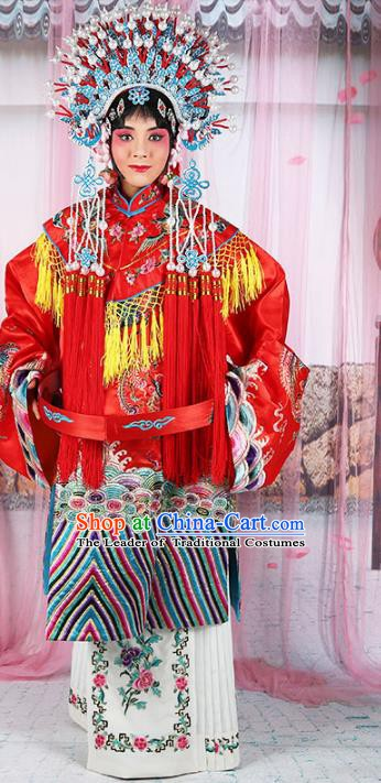 Chinese Beijing Opera Imperial Concubine Embroidered Costume, China Peking Opera Actress Embroidery Clothing