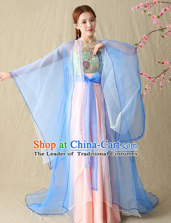 Traditional Chinese Ming Dynasty Imperial Concubine Costume, China Ancient Palace Fairy Hanfu Dress Clothing for Women