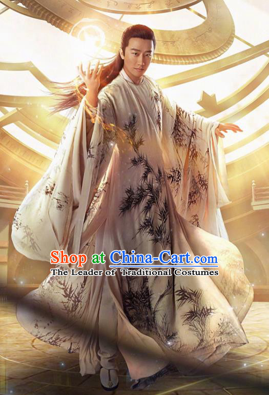 Traditional Chinese Tang Dynasty Scholar Clothing, China Ancient Nobility Childe Costume for Men