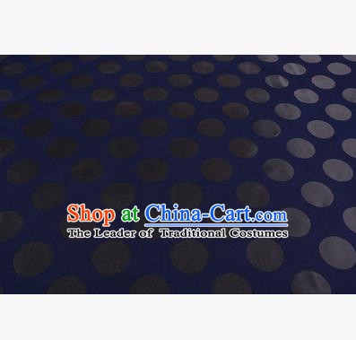 Chinese Traditional Costume Royal Palace Pattern Royalblue Brocade Fabric, Chinese Ancient Clothing Drapery Hanfu Cheongsam Material