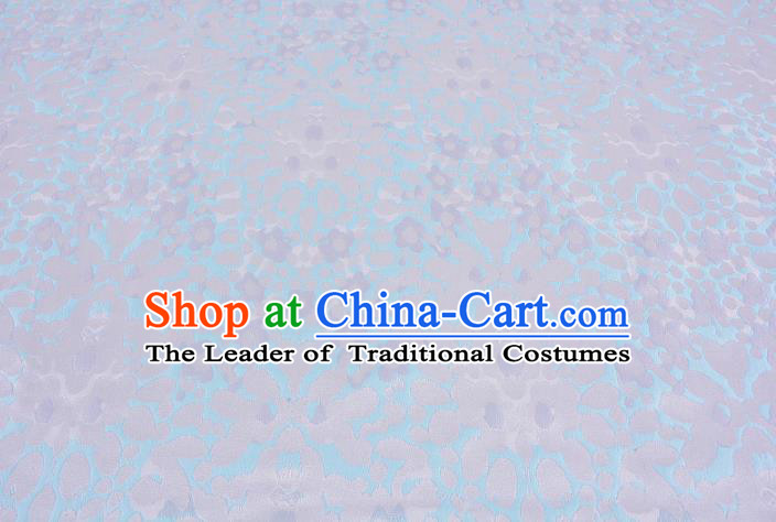 Chinese Traditional Costume Royal Palace Blue Satin Brocade Fabric, Chinese Ancient Clothing Drapery Hanfu Cheongsam Material