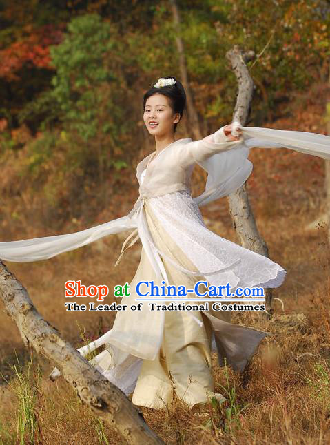 Traditional Ancient Chinese Female Costume, Chinese Tang Dynasty Swordswoman Fairy Dress, Cosplay Chinese Chivalrous Swordsman Clothing for Women