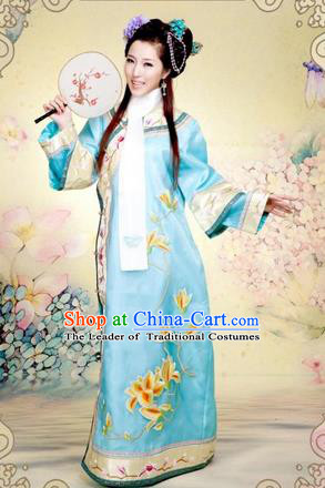 Traditional Ancient Chinese Imperial Consort Costume, Chinese Qing Dynasty Manchu Lady Princess Slim Dress, Chinese Mandarin Robes Imperial Concubine Clothing for Women