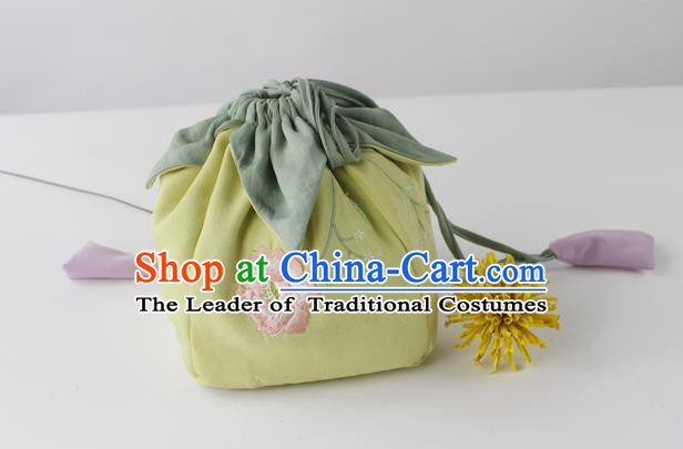 Traditional Ancient Chinese Embroidered Handbags Embroidered Flos Hibisci Bag for Women