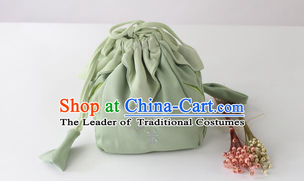 Traditional Ancient Chinese Embroidered Handbags Embroidered Bamboo Bag for Women