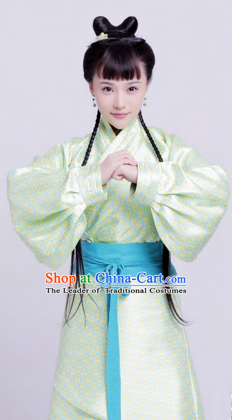 Traditional Ancient Chinese Imperial Princess Costume, Elegant Hanfu Dress Chinese Han Dynasty Imperial Lady Embroidered Clothing for Women