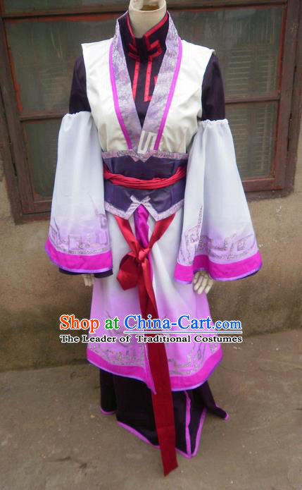 Traditional Ancient Chinese Classical Cartoon Character Uniform Cosplay Game Role Han Dynasty Swordmen Costume Complete Set for Women
