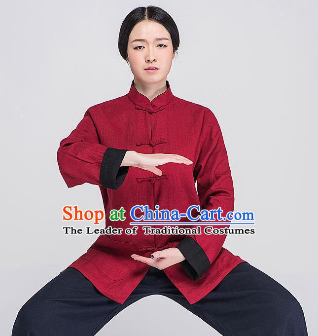 Traditional Chinese Top Pleuche Kung Fu Costume Martial Arts Kung Fu Training Grey Plated Buttons Uniform, Tang Suit Gongfu Shaolin Wushu Clothing, Tai Chi Taiji Teacher Suits Uniforms for Men