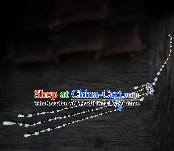 Traditional Handmade Chinese Ancient Classical Jewellery Accessories Tassel Palace Taeniasis, Blueing Waist Pendant for Women