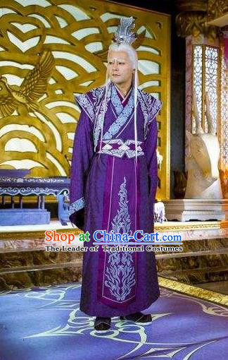 Traditional Chinese Ancient Costumes Ancient Chinese Cosplay Immortal Swordsman Knight Embroidery Costume Complete Set for Men
