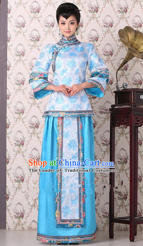 Traditional Ancient Chinese Imperial Emperess Costume, Chinese Qing Dynasty Lady Dress, Cosplay Chinese Peri Imperial Princess Clothing for Women