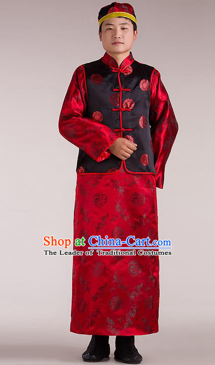 Traditional Ancient Chinese Imperial Emperor Costume, Chinese Qing Dynasty Male Wedding Dress, Cosplay Chinese Imperial King Clothing Hanfu for Men