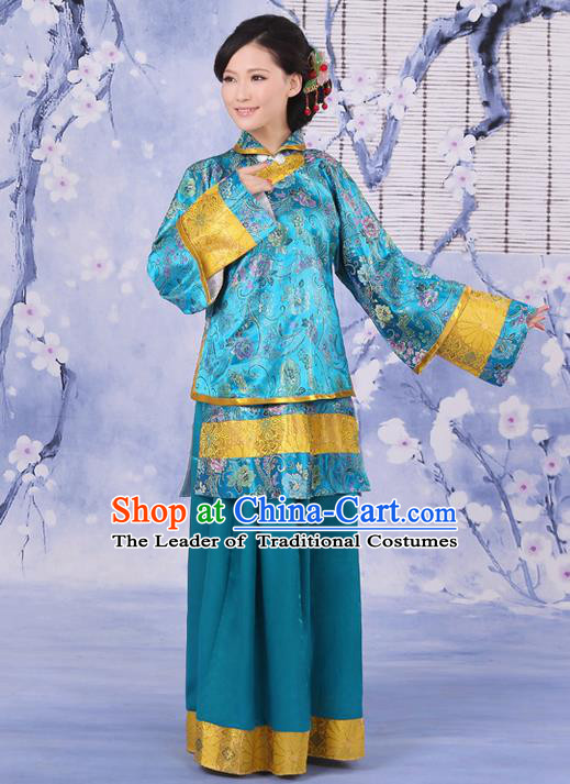 Traditional Ancient Chinese Imperial Emperess Costume, Chinese Qing Dynasty Old Lady Dress, Cosplay Chinese Peri Imperial Princess Clothing for Women