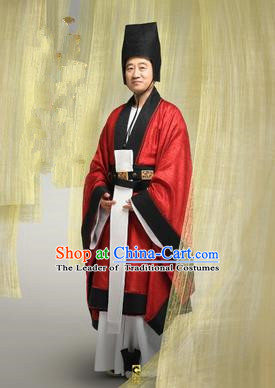 Traditional Ancient Chinese Imperial Eunuch Costume, Chinese Tang Dynasty Minister Clothing for Men