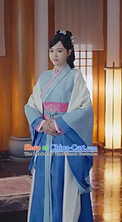 Traditional Ancient Chinese Imperial Princess Costume, Chinese Han Dynasty Young Lady Dance Dress, Cosplay Chinese Peri Embroidered Clothing Hanfu for Women