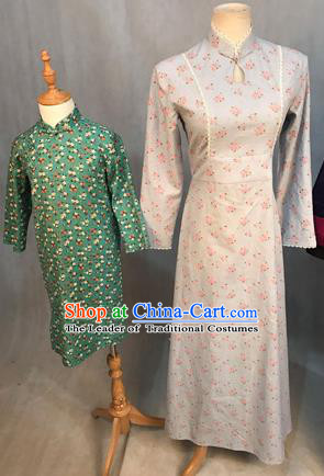 Traditional Ancient Chinese Young Women Cheongsam Dress, Chinese Tangsuit Embroidered Cheongsam for Women